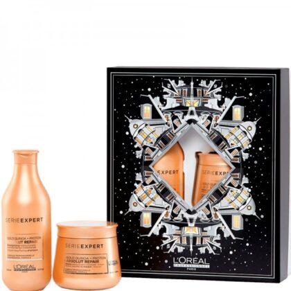 L'OREAL Professionnel ABSOLUT REPAIR BOX – Набор для повреждённых волос Восстанавливающий (Шампунь + Маска) 300 + 250мл