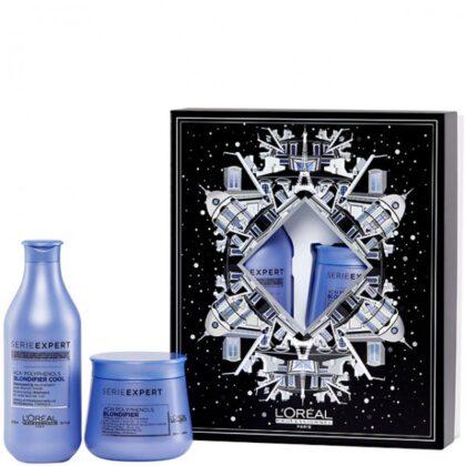 L'OREAL Professionnel BLONDIFIER BOX – Набор для светлых волос Восстанавливающий (Шампунь + Маска) 300 + 250мл